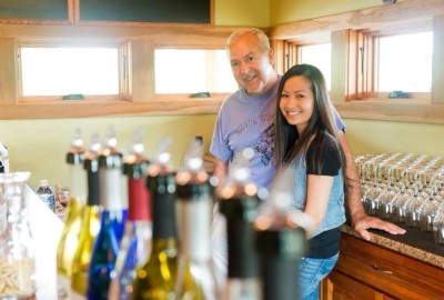 Shade Winery Owners Neal and Oui welcome you!